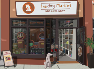 the dog market store front